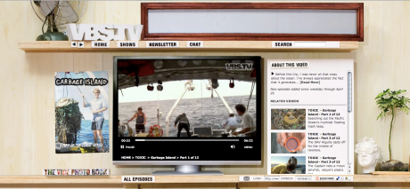Screen capture of Garbage Island by VBS.TV
