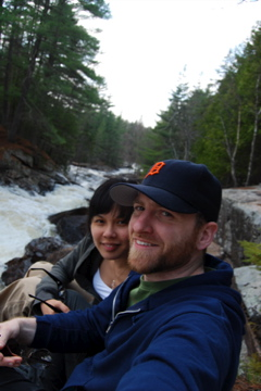 Jhoan and I at the rapids of the South River